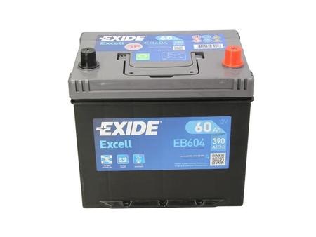 Akumulator EXIDE EXCELL 60Ah 390A P+ EB604 (1)